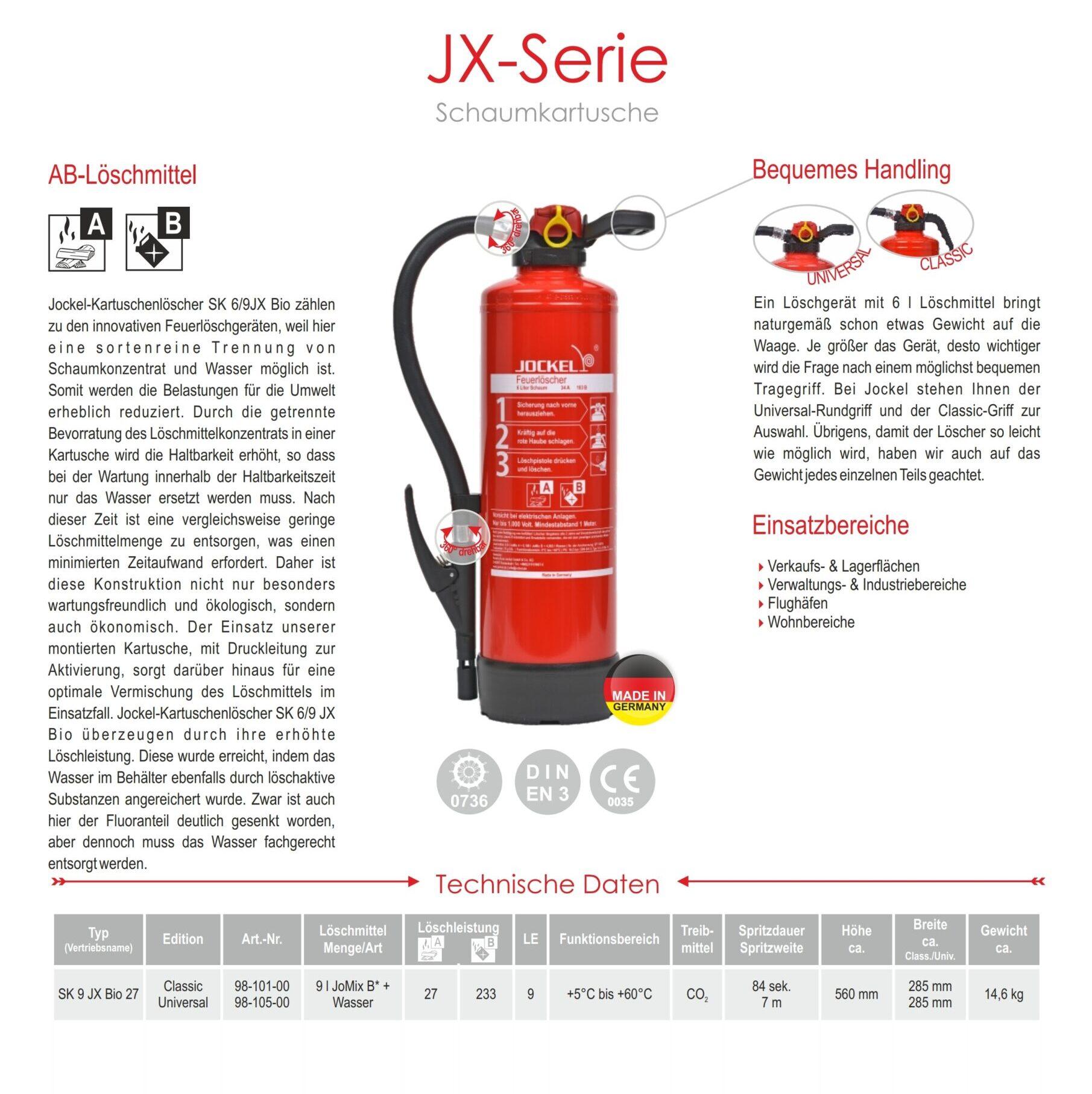 Schaum-Feuerlöscher 9 Liter