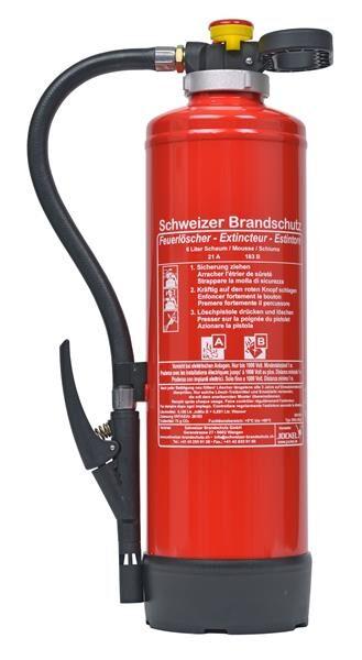 Schaum Feuerlöscher SK6Bio21